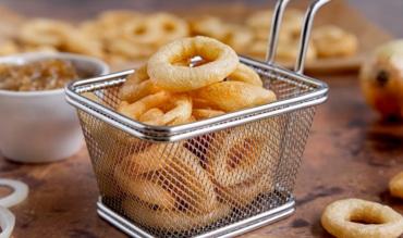 Frittierte Zwiebelringe