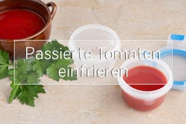 Passierte Tomaten einfrieren - Titel